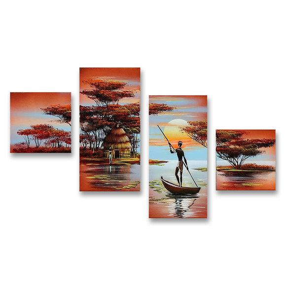 African village Gemälde