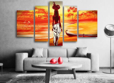 African Girl Gemälde