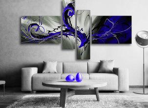 Gemälde Blue Storm