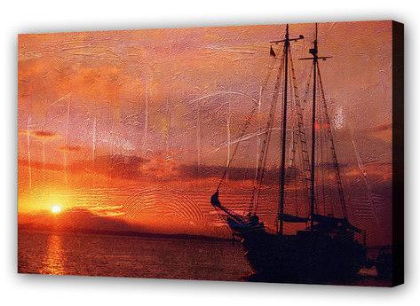 Sailing at the sunset