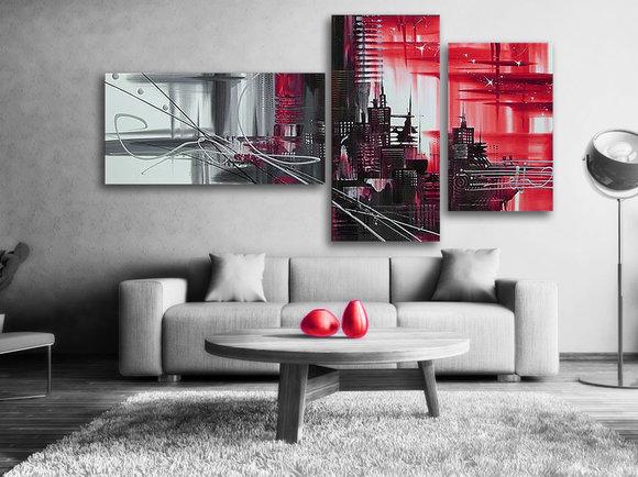 Gemälde Red city