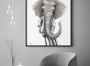 Katarina Vintrafors -POSTER - Elephant Woman