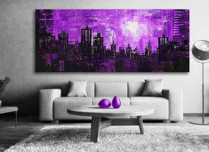 Abstrakt Gemälde Purple night
