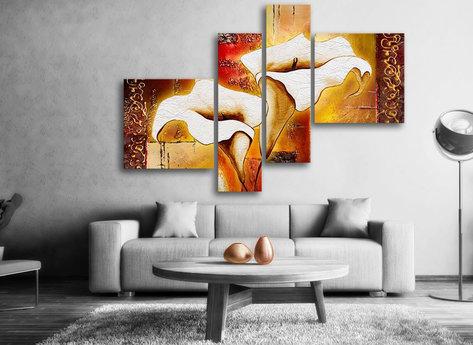 Gemälde Elegant white lilies