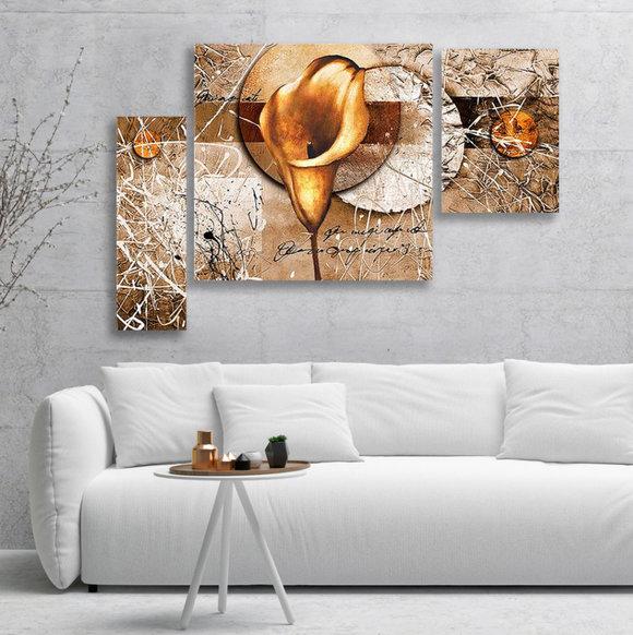 Gemälde  Gold Calla
