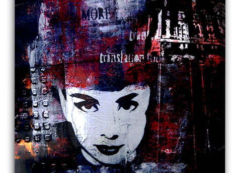 Dark Audrey Hepburn Malerei