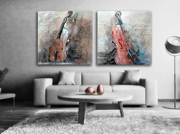 Gemälde Cello