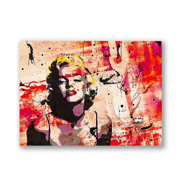 Marilyn Monroe  Red Gemälde