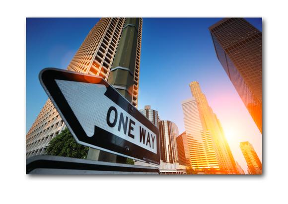 One Way, sunrise over Los Angeles Gemälde